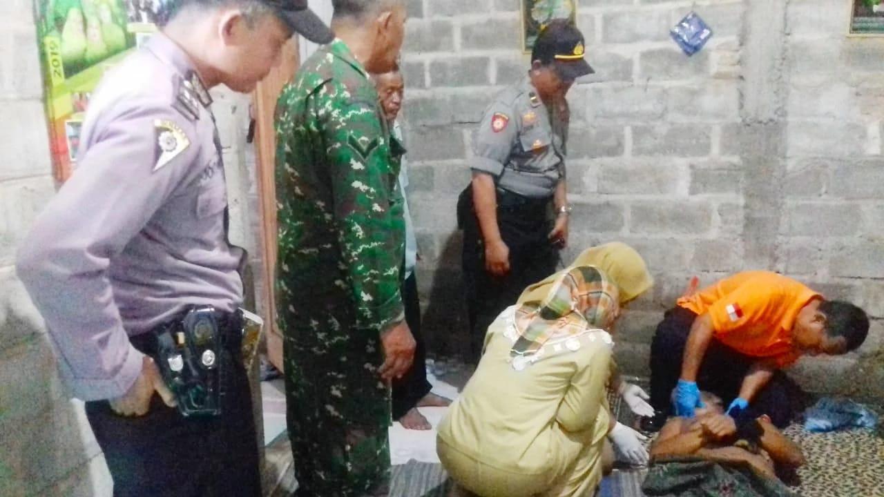Foto : Kondisi TKP aaat Hamdani di temukan tewas dalam kondisi tergantung