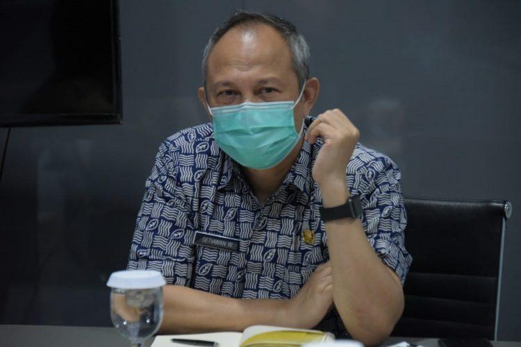 Foto: Sekretaris Daerah (Sekda) Provinsi Jabar Setiawan Wangsaatmaja saat melakukan video conference bersama Kementerian Dalam Negeri (Kemendagri) di Jabar Command Center