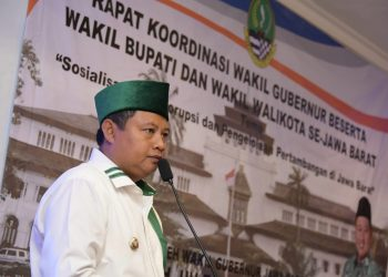 Foto: Wakil Gubernur Jabar Uu Ruzhanul Ulum memimpin rapat koordinasi (rakor) 'Sosialiasi Antikorupsi dan Pengelolaan Pertambangan