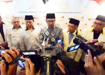 Foto: Gubernur Jawa Barat Ridwan Kamil saat menghadiri dan memberikan sambutan dalam acara Training Orientasi Partai Keadilan Sejahtera (PKS) di Hotel Prama Grand Preanger.