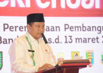Foto: Wakil Gubernur Jawa Barat (Jabar) Uu Ruzhanul Ulum saat menghadiri Rapat Koordinasi Teknis Perencanaan Pembangunan (Rakortekrenbang) Tahun 2020 Regional 2 di Hotel Grand Aquilla