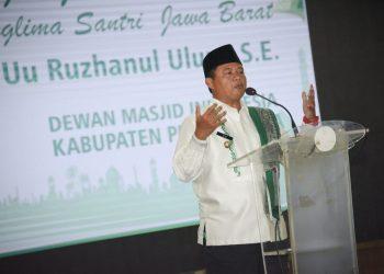 Foto: Wakil Gubernur Jawa Barat Uu Ruzhanul Ulum menghadiri Acara Pelantikan DMI Kabupaten Purwakarta, di Bale Yudisthira Pemda Purwakarta,