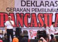 Foto: Sekretaris Daerah (Sekda) Provinsi Jawa Barat (Jabar) Setiawan Wangsaatmaja saat menghadiri Deklarasi Gerakan Pembumian Pancasila di Gedung Sate.