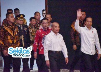 Foto: Gubernur Jabar Ridwan Kamil mendampingi Presiden RI Joko Widodo dalam Rapat Koordinasi Nasional Penanggulangan Bencana (Rakornas PB) 2020 di Sentul International Convention Center (SICC), Kabupaten Bogor.